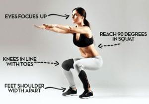 image of proper squat form